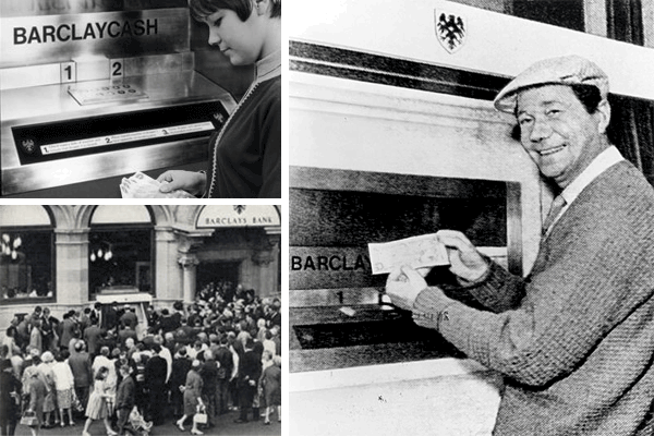 Opis: John Shepherd-Barron, World's First ATM & The First Transaction, 1967, http://blog.creditcardcompare.com.au