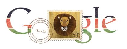 Google Doodle z okazji Dnia Niepodległości Kenii.