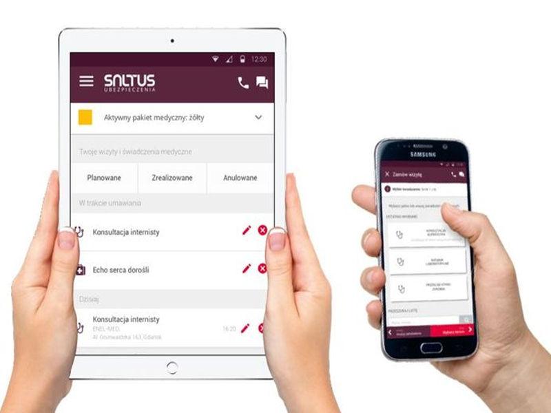 Dzięiki noowej aplikacji SALTUS Zdrowie możesz umówić wizytę u lekarza w 4 sekundy.