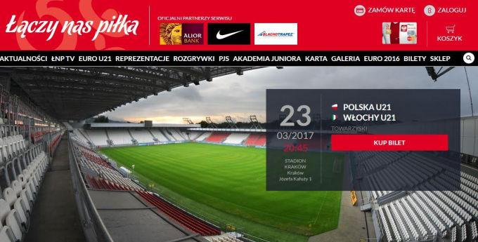 Bilety na mecze reprezentacji Polski będzie można kupić online przez stronę PZPN.