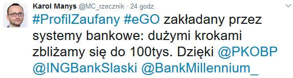 Blisko 100 tysięcy PZ z poziomu bankowości internetowej.