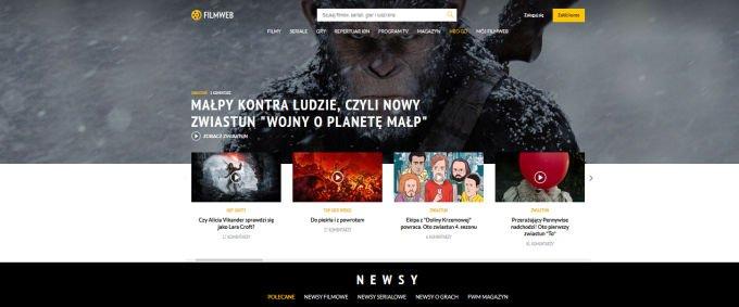 Nowa strona Filmwebu