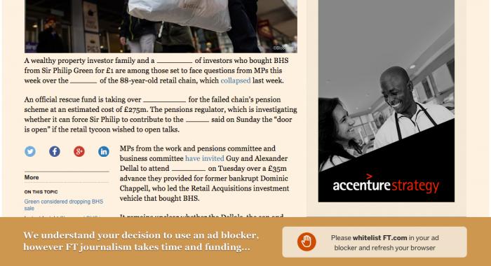 Adblock Financial Times.