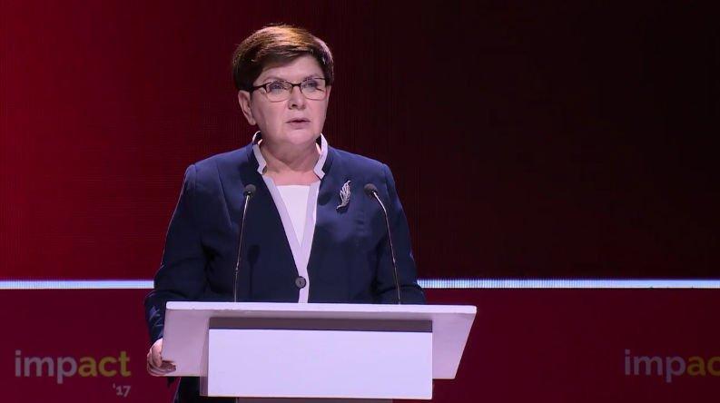 Beata Szydło - impact'17 Kraków.