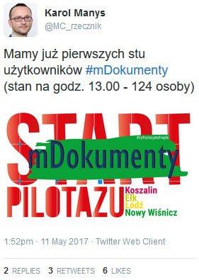 Karol Manys - twitter mDokumenty.