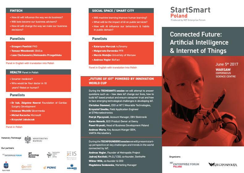 Konferencja StartSmart. Głos z Polski w sprawie sztucznej inteligencji i internetu rzeczy!
