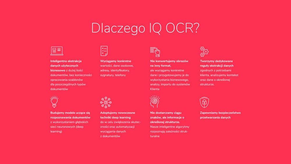 Dlaczego korzystać z IQ OCR.