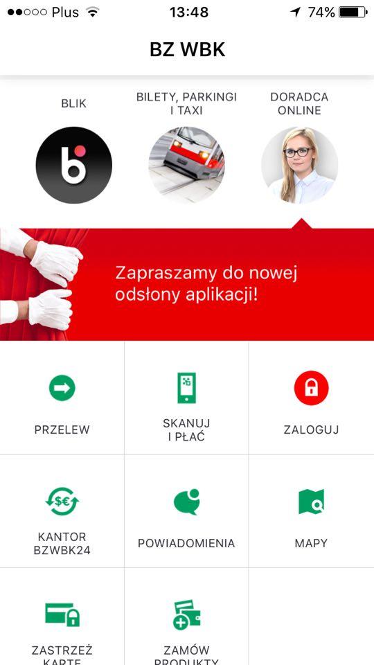 BZ WBK nowa aplikacja.