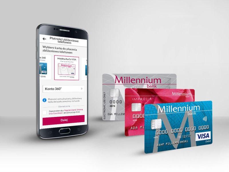 Bank Millennium umożliwił tokenizację wszystkich rodzajów kart płatniczych.