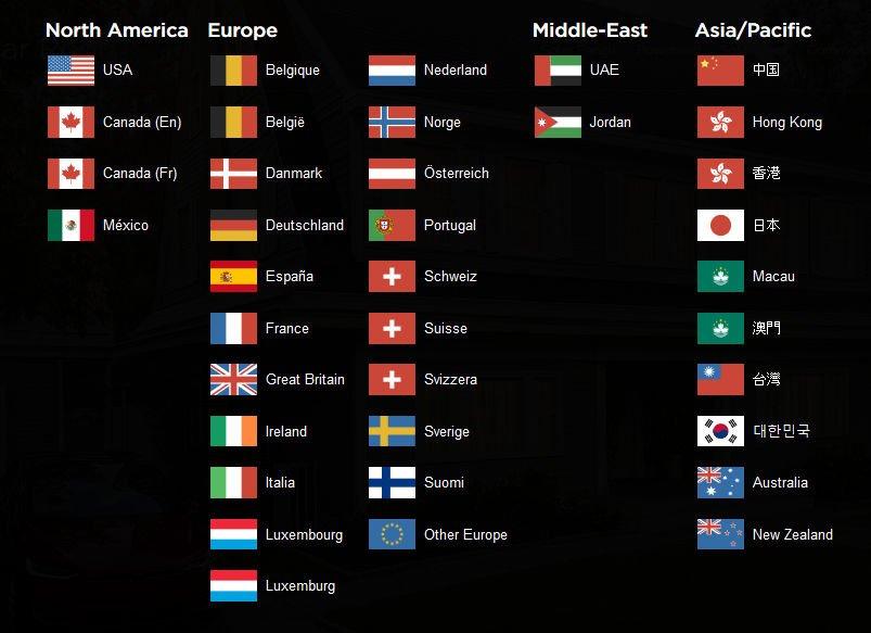 Kraje, w których dostępny jest dach solarny Tesli.