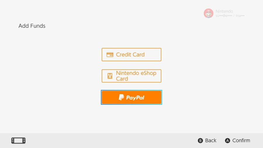 Nintendo Switch i PayPal