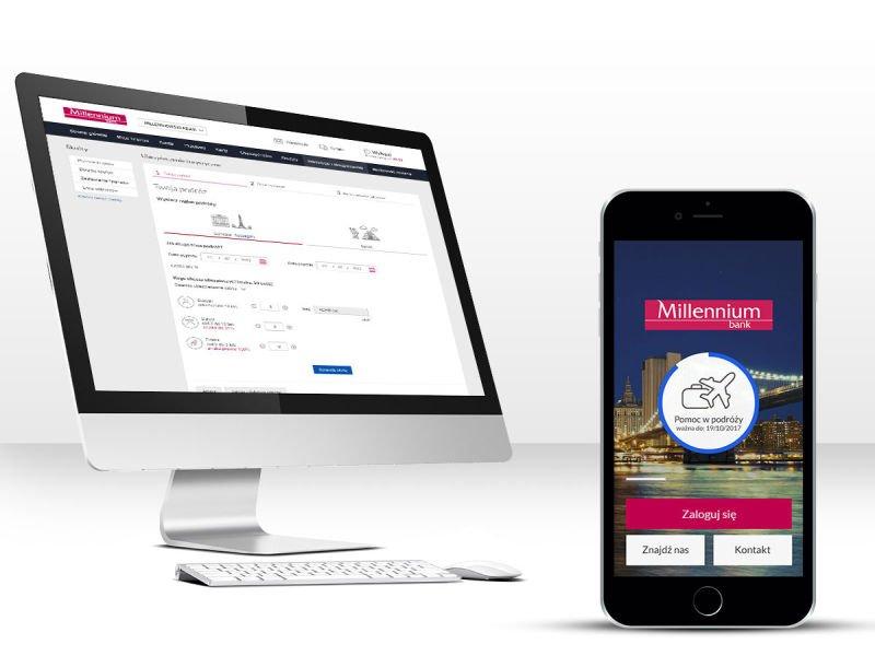 Ubezpieczenia turystyczne już dostępne w aplikacji mobilnej Banku Millennium i Millenecie.