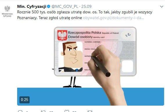 Kradzież dowodu osobistego zgłoszenie online
