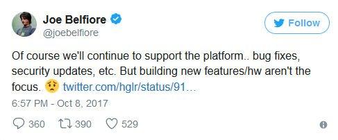 Joe Belfiore przyznaje - to koniec Windows Phone
