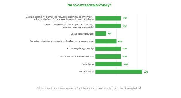 Na co oszczędzają Polacy MAM