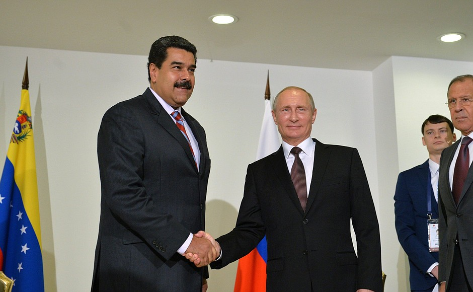 Nicolas Maduro i Władimir Putin