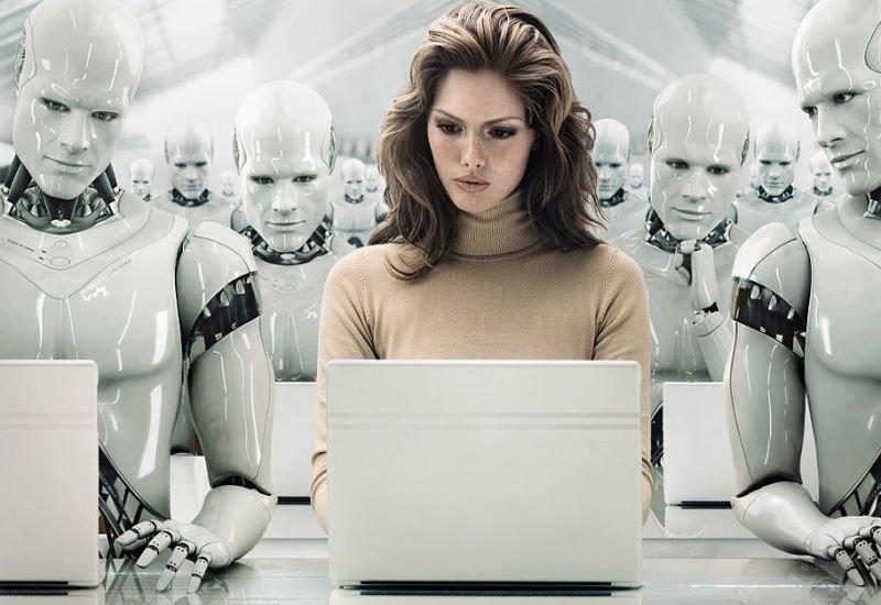 Bank obsługiwany przez roboty