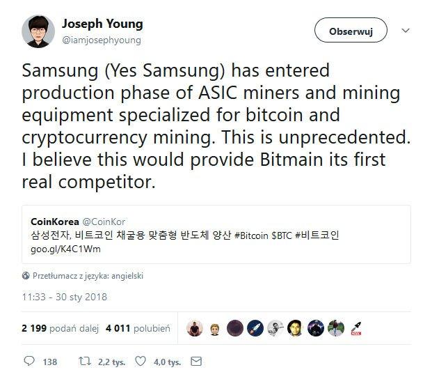 Samsung rozpocznie produkcję układów ASIC.