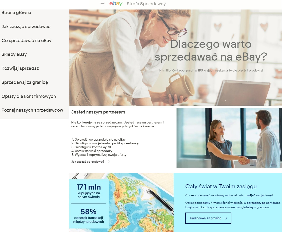 Coraz więcej profesjonalnych sklepów z Polski sprzedaje na eBay.