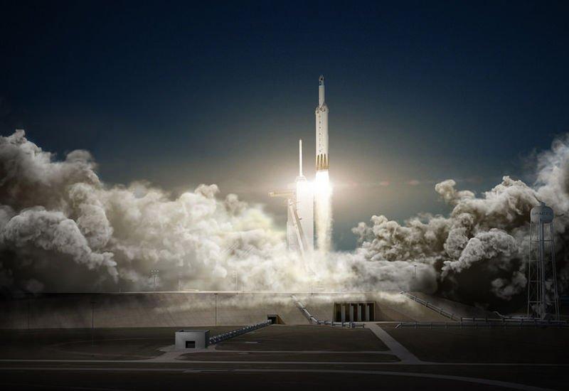 Falcon Heavy jest już w drodze na Marsa, a wraz z nim Tesla Roadster.