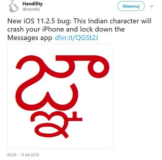 Kolejna bomba tekstowa Apple. Firma przygotowuje aktualizację