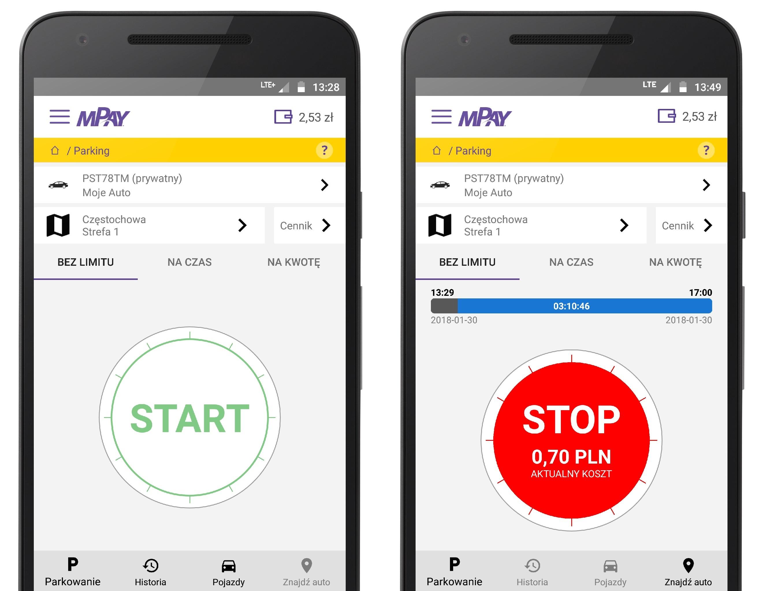 Nowe płatności za parkowanie w aplikacje mPay