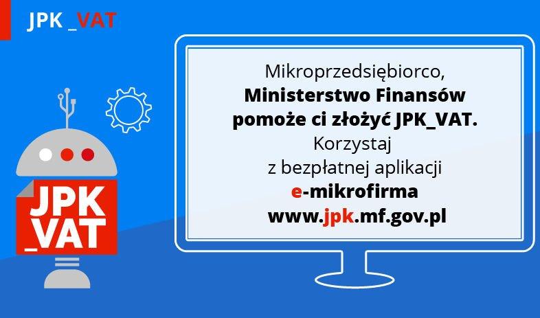 e-mikrofirma to nowa aplikacja przygotowana przez Ministerstwo Finansów. Pomoże mikroprzedsiębiorcom złożyć JPK_VAT.
