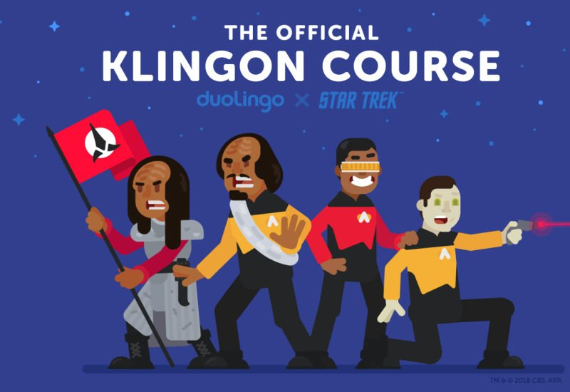 Kurs klingońskiego na platformie Duolingo
