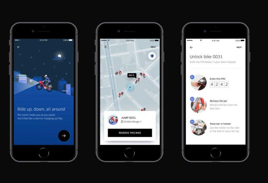 Rowery Jump w aplikacji Ubera