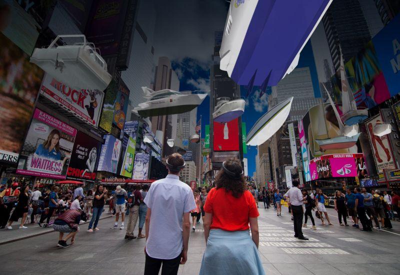 Nowy Jork pod wodą. HoloLens na Times Square