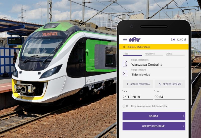 Bilety Kolei Mazowieckich w aplikacji mPay_2