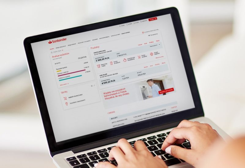 Bankowość elektroniczna Santandera dostępna po ukraińsku i po rosyjsku