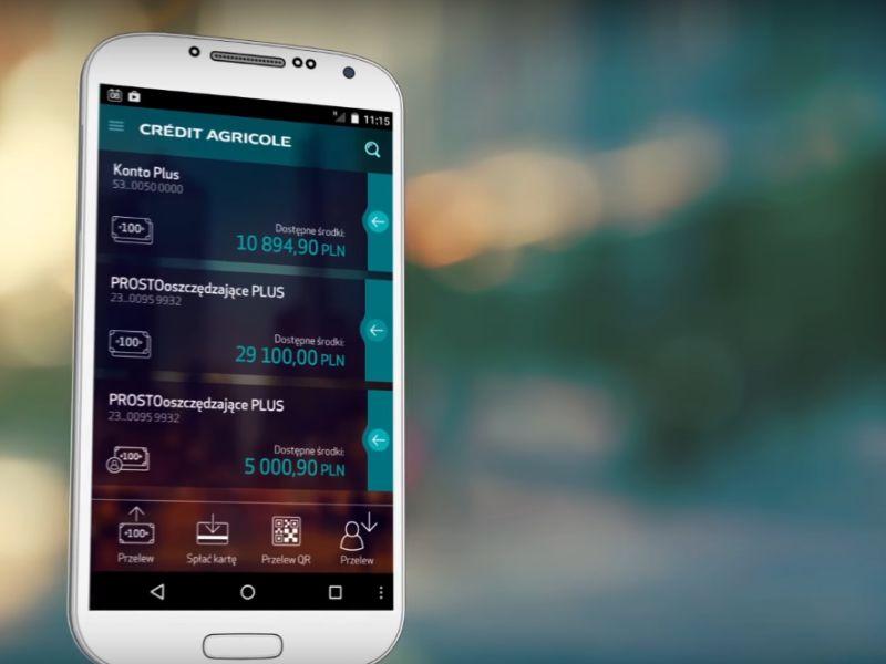 Klienci Credit Agricole mogą się już logować do aplikacji odciskiem palca
