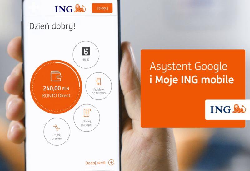 Aplikację Moje ING można już obsługiwać przy pomocy głosu