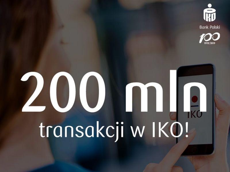 200 mln transakcji w aplikacji IKO. Niedługo nowe funkcje