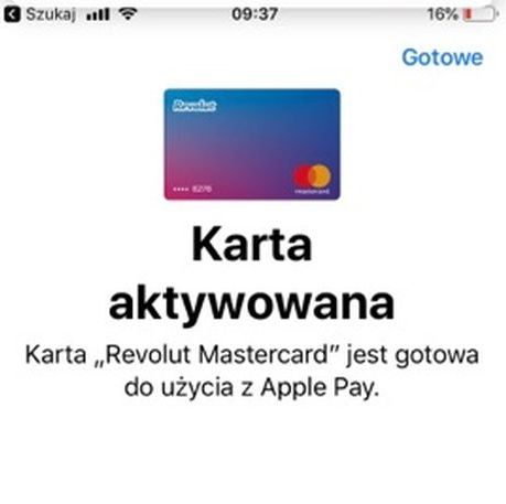 Karta Revolut w Apple Pay