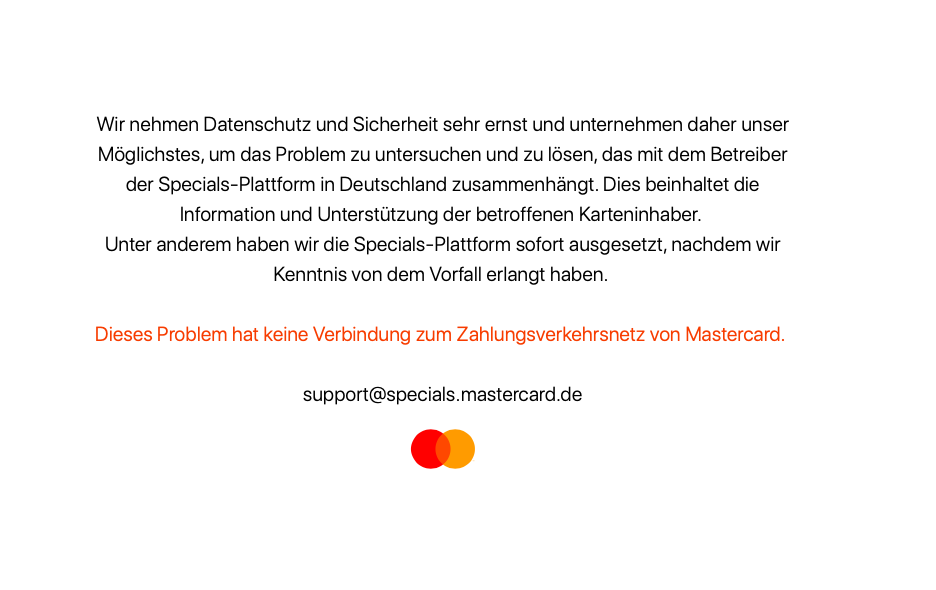 Mastercard Priceless Special DE