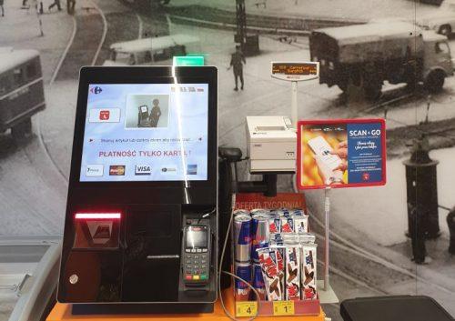 Mini kasa samoobsługowa w Carrefour Express