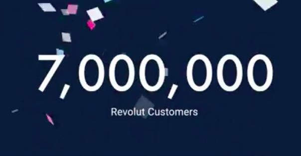 Revolut ma 7 mln użytkowników