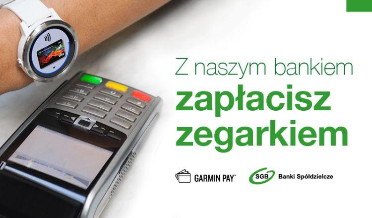 Płatności Garmin Pay już dostępne dla klientów SGB