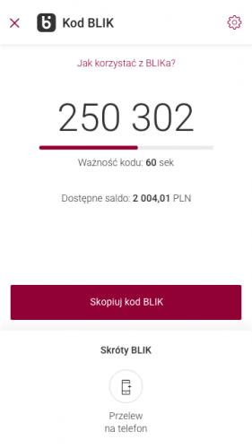 Kody BLIK w Alior Mobile