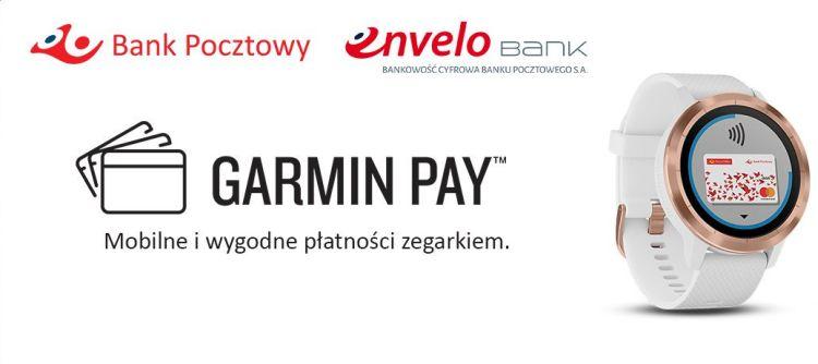 Płatności Garmin Pay już dostępne w Banku Pocztowym