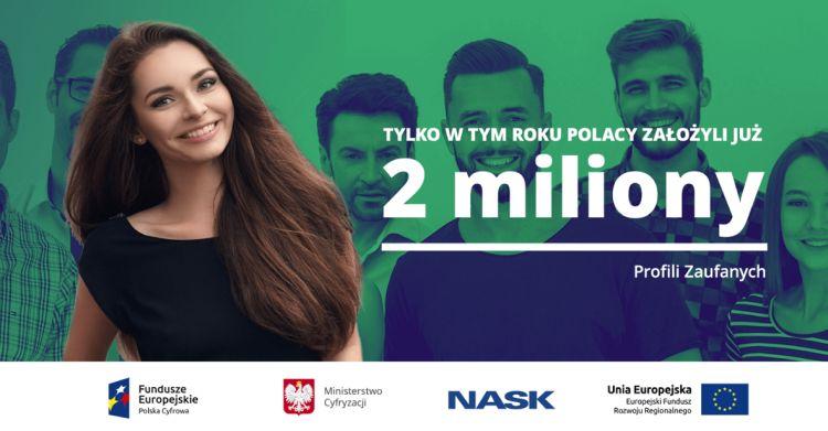 Tylko w tym roku Polacy założyli 2 mln Profili Zaufanych