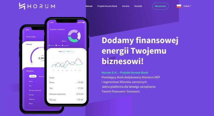 Projekt Horum Bank nabiera kształtów. Jest już strona internetowa
