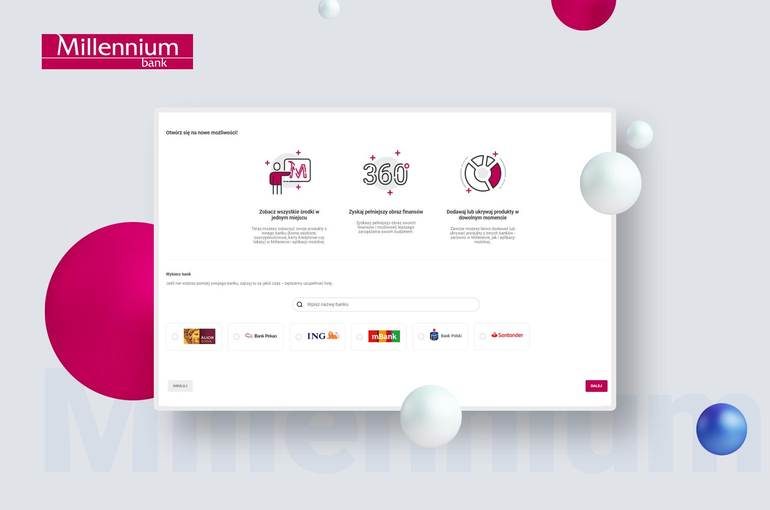 Millennium Bank - otwarta bankowość