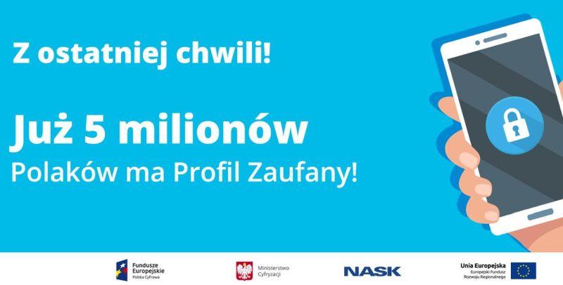 Z profilu zaufanego korzysta już ponad 5 mln Polaków