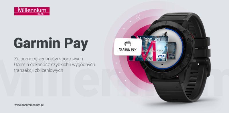 Bank Millennium udostępnia płatności Garmin Pay