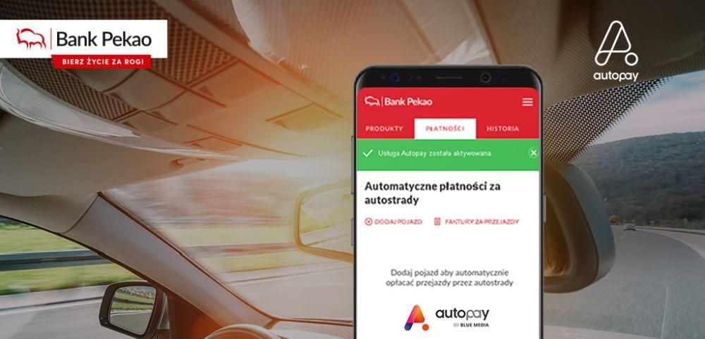 Automatyczne opłaty za przejazd autostradą już dostępne w aplikacji Banku Pekao