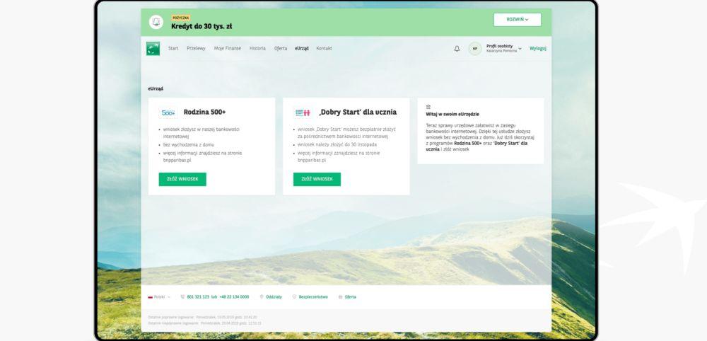 Wniosek o 300+ można już złożyć online w BNP Paribas