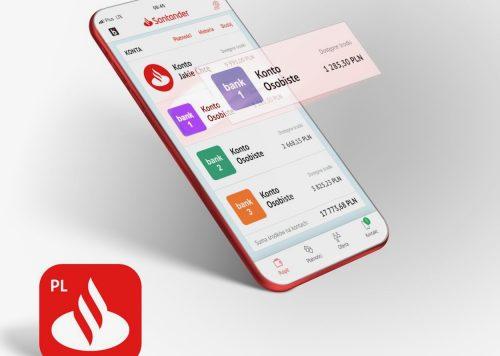 Z poziomu aplikacji Santander mobile zainicjujesz przelewy z kont w innych bankach